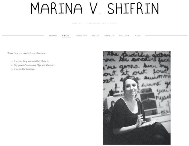 Marina Shifrin. Periodista