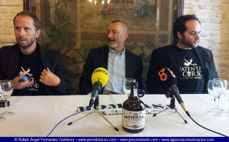 Alberto López, Arturo Pérez-Reverte y Alfonso Sánchez